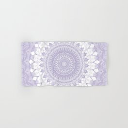 Boho Pastel Purple Mandala Hand & Bath Towel