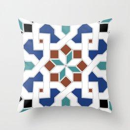 Geometric Pattern - Oriental Design Pt. 7 Throw Pillow
