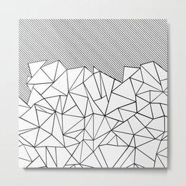 Ab Lines 45 Metal Print