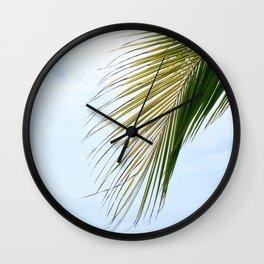 Palm Leaf Sky Wall Clock