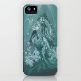 """""""Making the Most of Drowning"""" Woman in Water Art Print iPhone Case"""