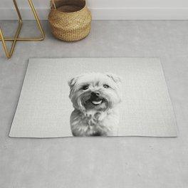 Dog - Black & White Rug