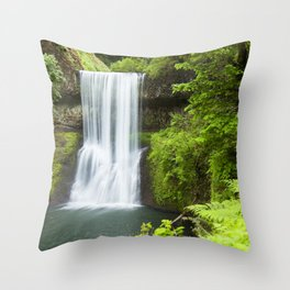 Lower South Falls, Silver Falls State Park, Oregon, USA Throw Pillow
