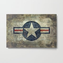 US Air force style insignia V2 Metal Print