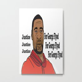 justice for george flyod Metal Print