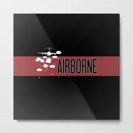 Airborne Jump (Airborne Red) Metal Print