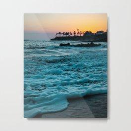 Wavy Waters In California In The Summer Metal Print