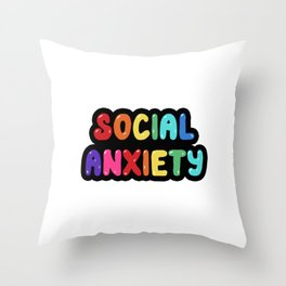 Social Anxiety Throw Pillow