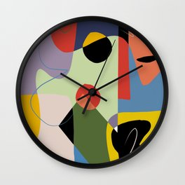 Abstract color composition V Wall Clock