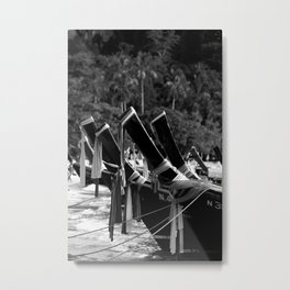 Longtail Boats Metal Print