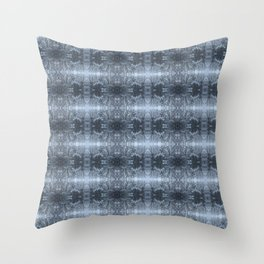 Snowfall in Trees Throw Pillow