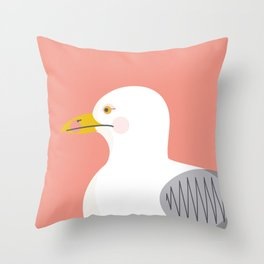 Wildlife Prints - Seagul Throw Pillow