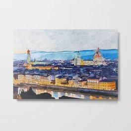 Florence Cityscape Metal Print