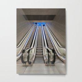 Subway escalators Metal Print
