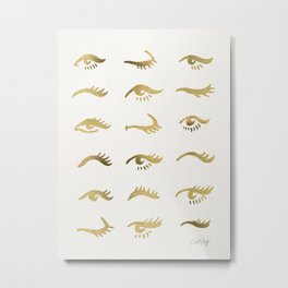 Mascara Envy – Gold Palette Metal Print