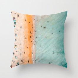 Large Aerial Beach Print, Printable Beach Art, Beach Wave Art, Aerial Beach Photography, Coastal Art, Ocean Print, Modern Art Throw Pillow