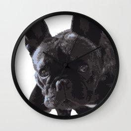 The guilty French Bulldog Wall Clock