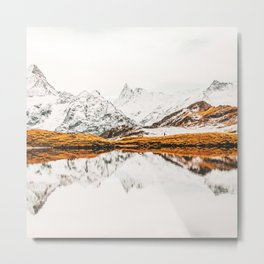 Glacial Reflection Metal Print