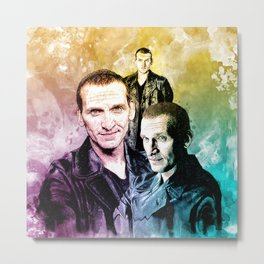 Inspired by Christopher Eccleston the ninth doctor Who in water color Metal Print