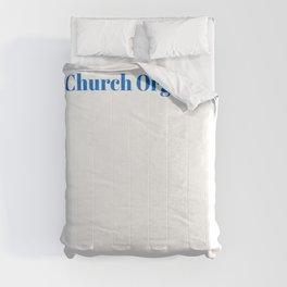 Church Organist Ninja in Action Comforters
