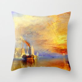 William Turner The Fighting Temeraire Throw Pillow
