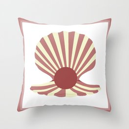 Pearly Shell Throw Pillow