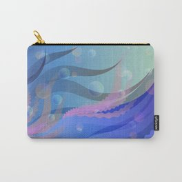 Colourful Boho Under water Ocean scene Carry-All Pouch