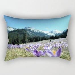 crocuses in the Chochołowska Valley Rectangular Pillow