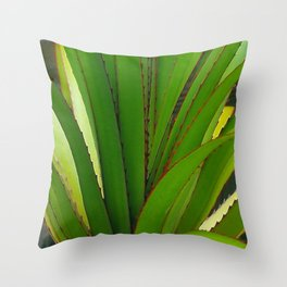 Young Screw Pine Throw Pillow