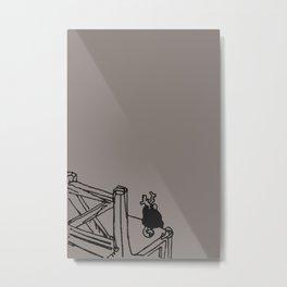 Inner peace - Soot color Metal Print