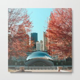 Chicago Cloud Gate Metal Print