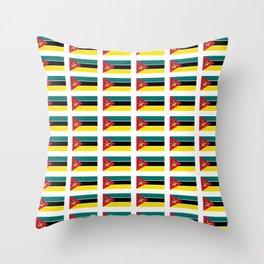 Flag Of mozambique-Mozambique,mozambican,Moçambique,moçambicano,moçambicana,Maputo Throw Pillow