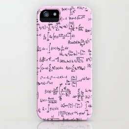 Math Equations // Light Pink iPhone Case