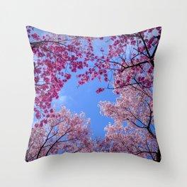 Cherry blossom explosion Throw Pillow