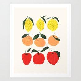 Lemon & Friends Art Print