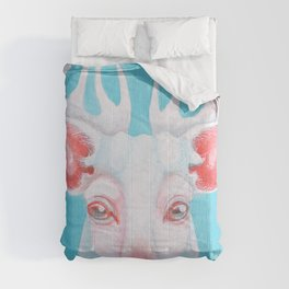 Portrait of a White Stag Comforters