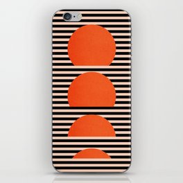 Abstraction_SUNSET_LINE_ART_Minimalism_001 iPhone Skin