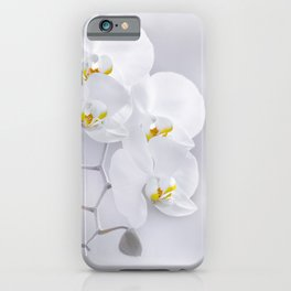 Orchid white macro 029 iPhone Case