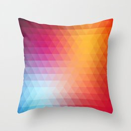Retro geometric shapes, triangle pattern Throw Pillow