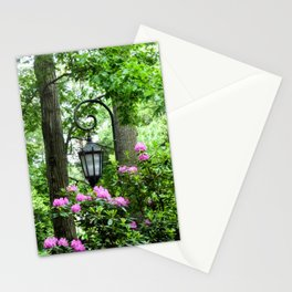 Lamppost Pink Stationery Cards