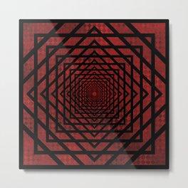 Eternally Red Metal Print