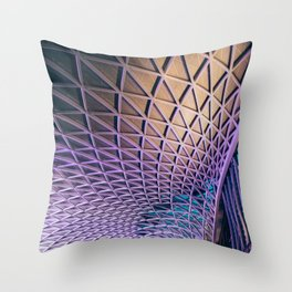 King's Cross Station   London City Urban Architecture Photography Throw Pillow