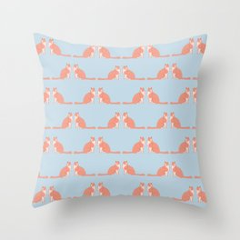 Cute Funny Cat Pattern Throw Pillow