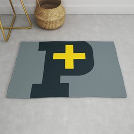 "keep-it-positive, letter "" p "" Rug"