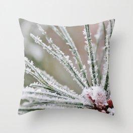 Frosty needles Throw Pillow