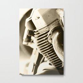 Motorbike engine close-up view Metal Print
