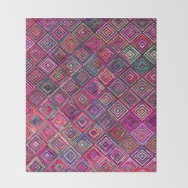 Traditional Anthropologie Oriental Moroccan Style Design Throw Blanket