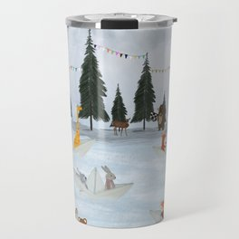 the great paper boat race Travel Mug