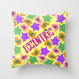 Eccentric Word Project Throw Pillow