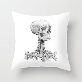 The Skull in the Mirror Throw Pillow